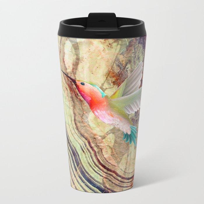 hummingbirds marble Metal Travel Mug