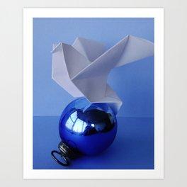 Origami Dove 1 Art Print