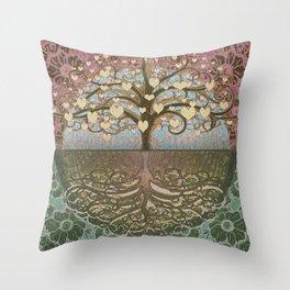 Tree of Life Heart 2 Throw Pillow