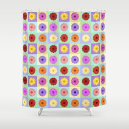 Gerbera Daisies Bright Color Design Shower Curtain