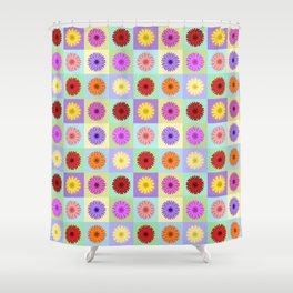 Gerbera Daisies Bright Color Design Shower Curtain
