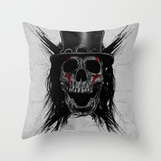 Skull Hat Throw Pillow