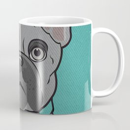 Icons of the Dog Park: French Bulldog Design in Bold Colors for Pet Lovers Coffee Mug