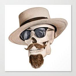 Hipster Skull Canvas Print