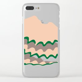 Scraping residue Clear iPhone Case