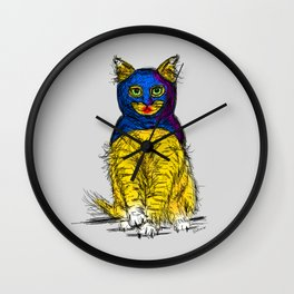 BAT CAT MAGIC Wall Clock