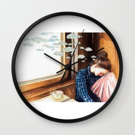 Clouds of Thoughts Wall Clock
