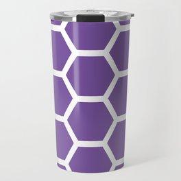 Purple Honeycomb Travel Mug