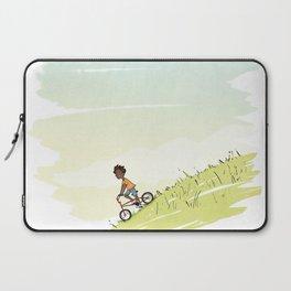 Boy on Bike Laptop Sleeve