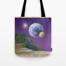 """NO WORLD IS """"ALIEN"""" Tote Bag"""