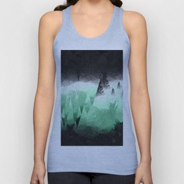 Modern Abstract Green Mountain Design Unisex Tank Top