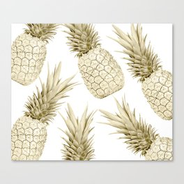Gold Pineapple Bling Canvas Print