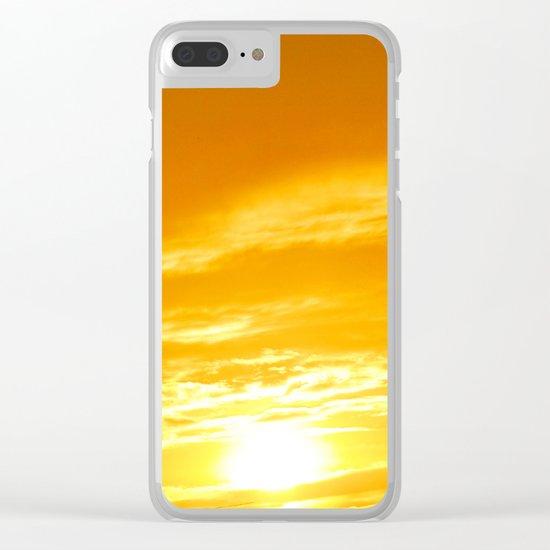 Μy Νeighborhood Sunset Clear iPhone Case