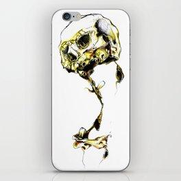 Yellow Skul iPhone Skin