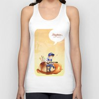 exo Tank Tops featuring EXO Chanyeol on caramel pudding by Rei Lydia