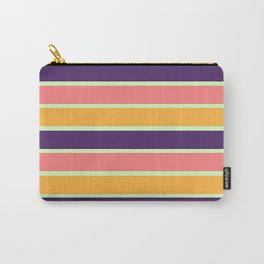 PURPLE STRIPE MIX Carry-All Pouch