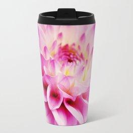 Close up pink dahlia Travel Mug