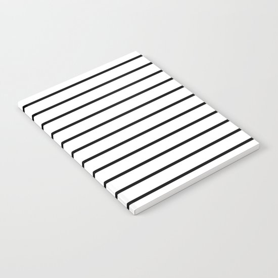 Thin Black Stripe Pattern Notebook