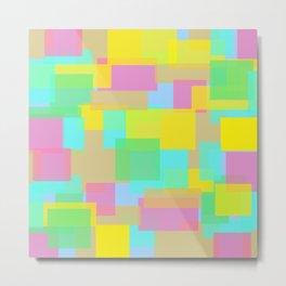Coloured Blocks Metal Print