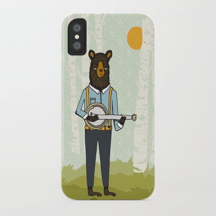 Bear's Bourree - Bear Playing Banjo iPhone Case