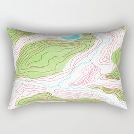 Let's go hiking - topographical map Rectangular Pillow