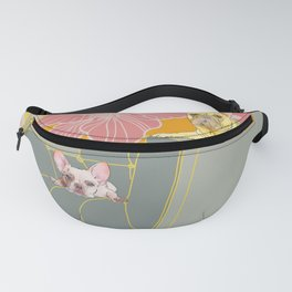 Dogs in chairs French Bull Dogs Fanny Pack