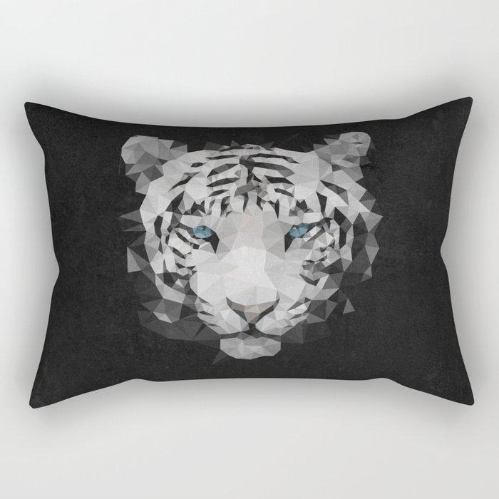 Meduzzle: White Tiger Rectangular Pillow