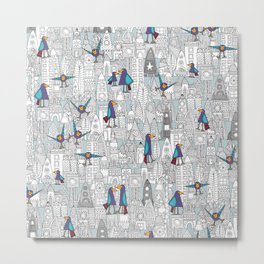 birds and rockets Metal Print