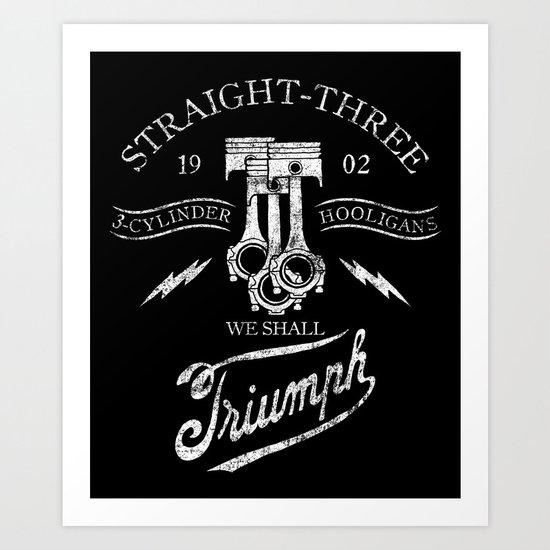 STRAIGHT 3 Art Print