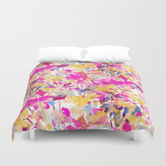 Local Color Yellow Pink Duvet Cover