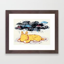 """""""Can a Cat Have an Existential Crisis?"""" by Jackie Ferrentino for Nautilus Framed Art Print"""