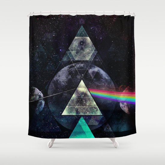 LYYT SYYD ºF TH' MYYN Shower Curtain