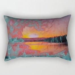 WAVE OVER SUNSET Rectangular Pillow