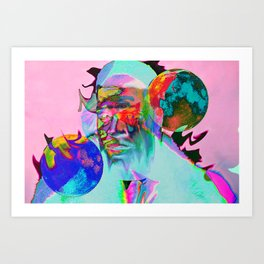 Man With Two Moons Art Print