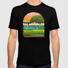 Budapest burger Black SMALL Mens Fitted Tee