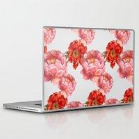 vintage floral Laptop & iPad Skins featuring vintage floral by cardboardcities
