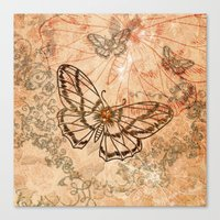 butterflies Canvas Prints featuring Butterflies by nicky2342