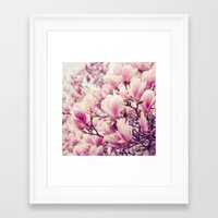 magnolia Framed Art Prints featuring Magnolia by Juste Pixx Photography