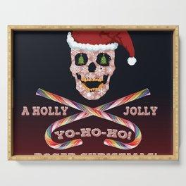 Holly Jolly Roger Xmas Serving Tray