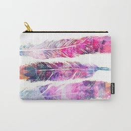 Sketch Feathers Carry-All Pouch