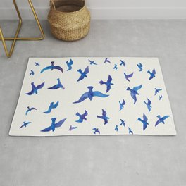 Blue Birds Rug