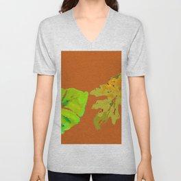Leaves de la Autumn painting with digital frolicksomeness Unisex V-Neck
