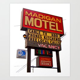 Nostalgic motel sign Art Print