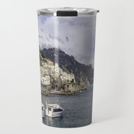 Amalfi, Italy- a view of the city, harbor and shoreline Travel Mug