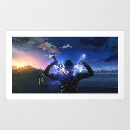 Kirito Swords art online Art Print