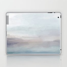 Light Gray, Mauve, Turquoise Aqua Blue Print Modern Wall Art, Abstract Painting Laptop & iPad Skin
