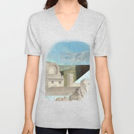 Faded fantasies of a neglected mind Unisex V-Neck