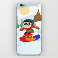snowboarding iPhone & iPod Skins featuring Winter Sports: Snowboarding by Alapapaju