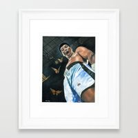 ali Framed Art Prints featuring Ali by ManassehJ
