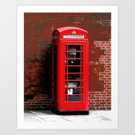 Red Phone Box- London England UK Art Print